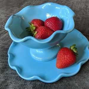 Williams Sonoma Dessert Bowl and Plate